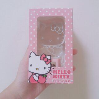 Hello Kitty LED七彩夜燈 底座粉色款