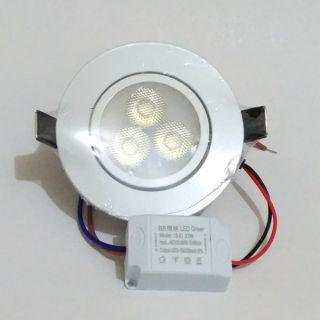 5W LED附變壓器可調角度崁燈杯燈天花燈珠寶燈投射燈-白光