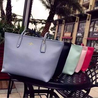 素面防刮全皮購物袋coach托特包 F36875 女包 COACH媽媽包 送禮最佳
