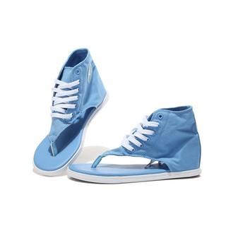 converse帆布鞋 時尚系帶高筒夾腳人字拖鞋涼鞋 淺藍 女鞋
