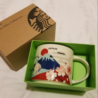 日本 星巴克starbucks 限定 You Are Here Collection 富士山馬克杯