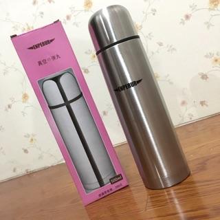 全新ENPERUR真空的彈丸500ML不鏽鋼金屬素面保溫水瓶-銀色