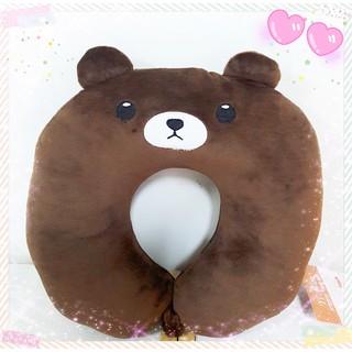 LINE 熊大 U型枕 頸枕 U枕 護頸枕 絨毛 玩偶 娃娃~特價出清中~