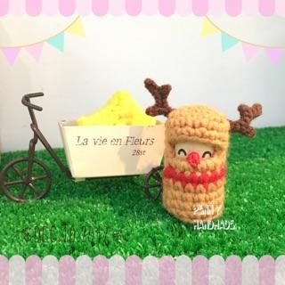 Penny HANDMADE聖誕麋鹿可愛鉤針娃娃吊飾