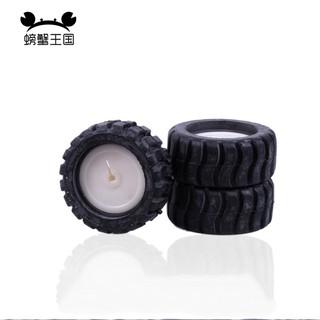 免運!!滿499免運螃蟹王國 玩具車輪DIY玩具模型配件 D字口 橡膠車輪43*3mm