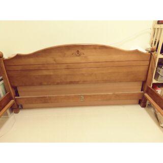 歐風家具 胡桃木排骨架床架 實木床框 雙人加大