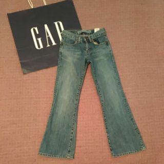 GAP 女童 靴型 牛仔褲 8 九成新