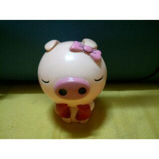 擲筊 小豬 造型小擺飾 蝴蝶結