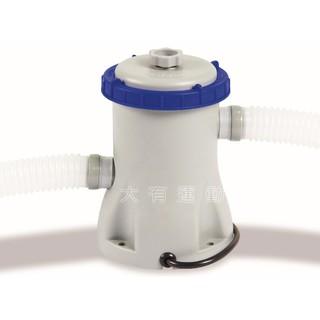 【大有運動】INTEX Bestway 專用 充氣 泳池 抽水 過濾水 游泳池 碟型 電動 過濾器 244/305cm