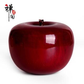 禪意閣紅檀金絲楠木雕蘋果擺件平安吉祥裝飾圣誕平安果工藝禮品