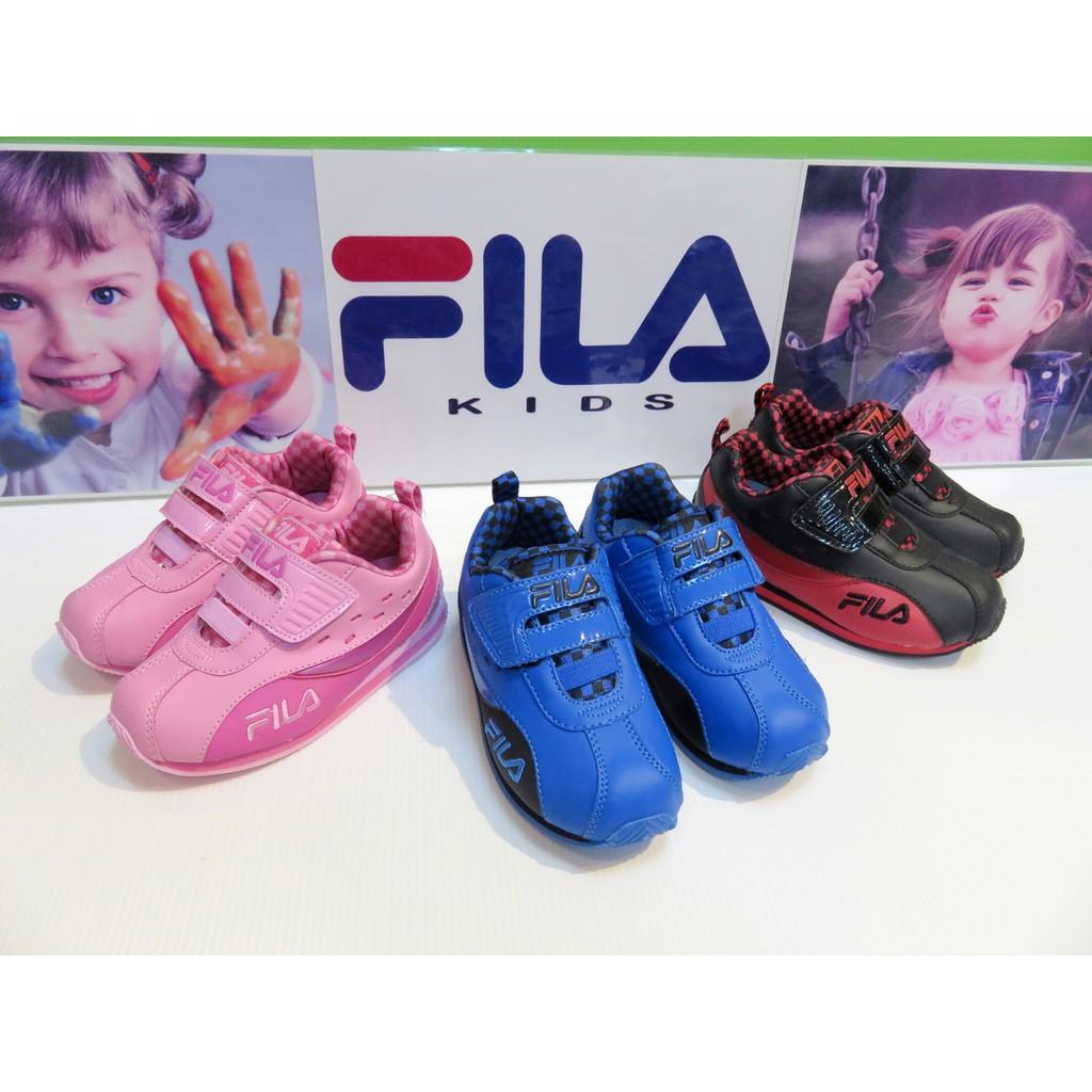 ***出清款***FILA頂級童鞋款-經典賽車款 電燈機能慢跑鞋-藍 14-15號(小中童段)☆特賣☆