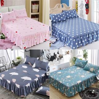 24 款卡通印花圖案床裙床罩床包可愛公主床蓋床單床笠單人雙人加大雙人特大雙人床雙人