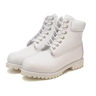 海外Timberland/添柏嵐男鞋女鞋天伯倫大黃靴防水保暖冬季10061白色粒面皮