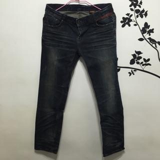 i2n DENIM 正韓牛仔褲 大尺碼 XL 後口袋布章造型