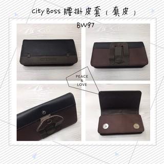 City Boss  BW97 IPhone 6 Plus/6S Plus 真皮 牛皮 腰掛式橫式皮套(裝空壓可裝下
