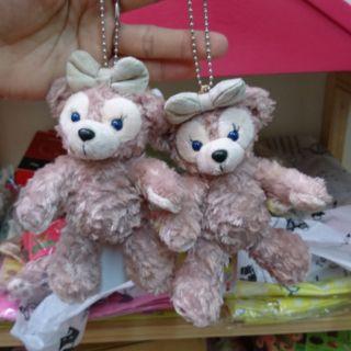 日本正版 雪莉玫站姿 坐姿 達飛熊 duffy吊飾15公分左右 迪士尼 畢業禮物情人禮物 生日禮物