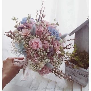 乾燥花不凋花捧花花束新娘婚紗外拍