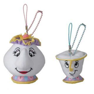 【預購】4/21迪士尼樂園限定茶壺媽媽&ㄚ奇杯吊飾