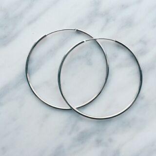 (現貨)純銀大圈圈簡約復古歐美耳環