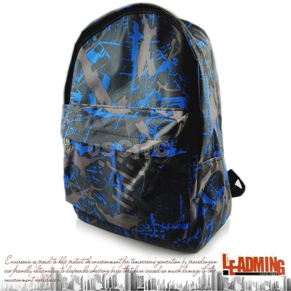 【LEADMING】抽象風格休閒後背包 CIQ-T026