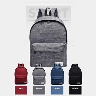 英文標籤後背包雙肩包後背包帆布包休閒背包學院風旅行收納~R