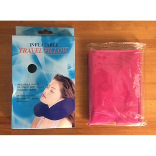 舒壓充氣枕 旅行充氣枕 便攜式空氣頸部緩衝U型枕頭