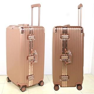 運動版方型箱*加厚版鋁框PC拉捍箱商務旅行箱行李箱
