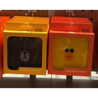 最新正版熊大莎莉無線充電器 韓國 可愛 line friends iphone X iphone 8三星 無USB線