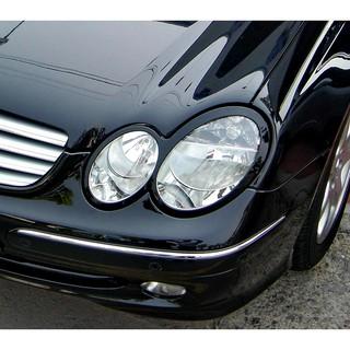 ~圓夢工廠~ Benz 賓士CLK W209 03~09 CLK240 CLK320 CLK350 烤漆黑車燈飾框 前燈