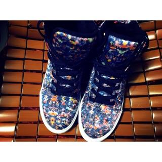 Supra 高筒潑漆風滑板鞋