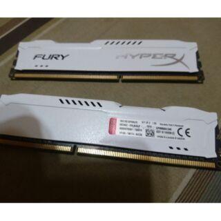 金士頓 DDR3 1866 4GB x2 共 8GB 白 雙通道 記憶體 RAM
