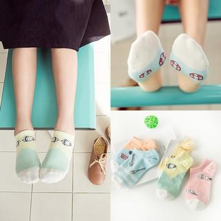 現貨春夏女襪-S203卡通塗鴉糖果色船襪