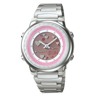 CASIO手錶專賣店 指針電子雙顯示 甜美愛心粉色系動畫錶 保證台灣卡西歐代理公司貨+保固卡【↘1090】LAW-25D
