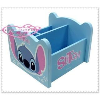 小花花日本精品♥ Hello Kitty 史迪奇 旋轉收納櫃 木製 收納盒 置物櫃 文具收納盒 68906108