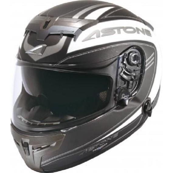 【ASTONE】GTR N21(黑/消光黑) 碳纖維 全罩式安全帽 內藏墨片 眼鏡溝 藍芽耳機孔 雙D扣 內襯可拆洗