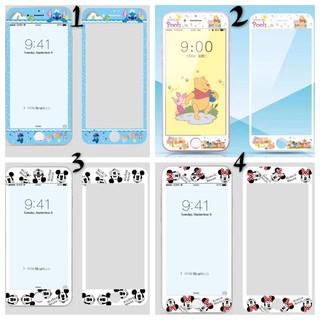 新品上架卡通系列 軟邊鋼化玻璃保護貼iPhone X/7/8/6系列 鋼化膜 保護貼 鋼化貼 軟邊玻璃貼