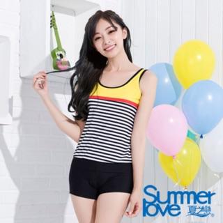 夏之戀兩件式長版運動款泳衣
