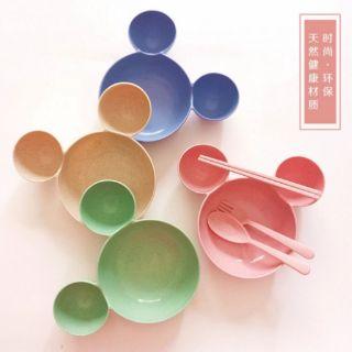 小麥米奇碗 米奇碗 米奇大頭碗 小麥碗 環保餐具 嬰兒碗