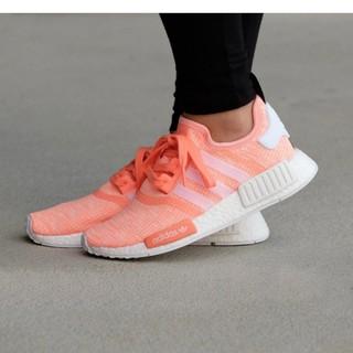 adidas Originals NMD R1 Boost 粉紅橘 編織 女鞋GT BY3034