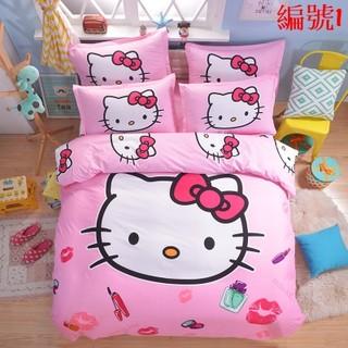共9款Hello kitty 4件套床包組/四件套單人床包/四件套單雙人床包/四件套單加大雙人/凱蒂貓可愛卡通寢具