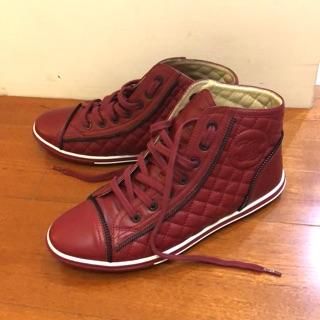 CHANEL香奈兒 正品 真皮帆布鞋