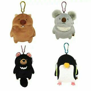 可愛動物 悠遊卡卡套 零錢包 掛飾 鴨嘴獸 無尾熊 土撥鼠 奇異鳥 黑熊