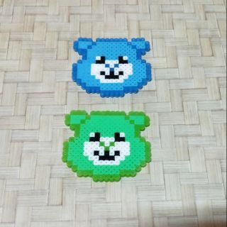 雙甯小鋪 彩虹熊 拼豆 鑰匙圈 吊飾