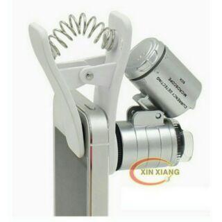 60倍 放大 顯微鏡 LED 手機攜帶式 兩用 防偽 驗鈔 骨董