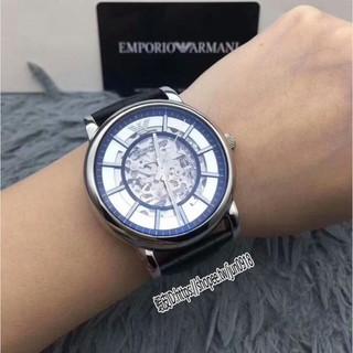 美國直郵Emporio Armani 全新正品阿曼尼男士全自動機械鏤空時尚商務防水手錶AR1981