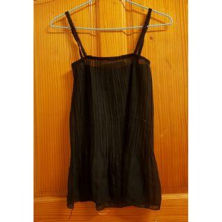 半透明黑色薄紗背心 女性衣服 女生上衣