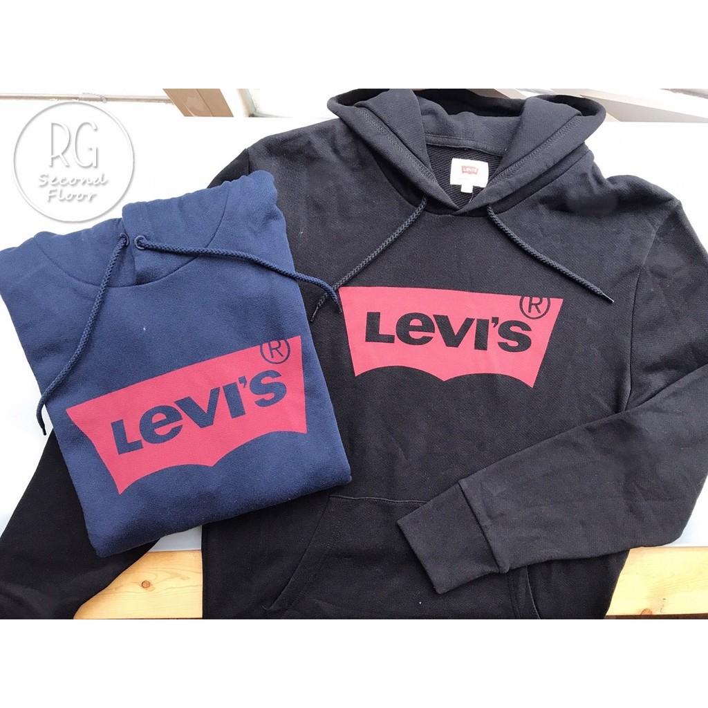 【瑞捲斯高雄店】LEVIS 男版連帽上衣 經典Logo款 帽T 長袖連帽Tee 美國代購 黑色/深藍色/灰色