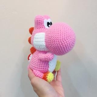 預購 粉色耀西恐龍-毛線娃娃
