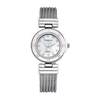 ⌚ 范倫鐵諾古柏鋼絲手錶戀鎖巴黎手表情侶男女對錶對表M Valentino Coupeau