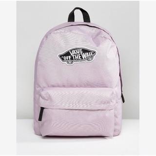 Vans  粉紫 粉色 紫色 少女 後背包 後背 包 書包 正品 滑板 帆布 logo 基本款 開學